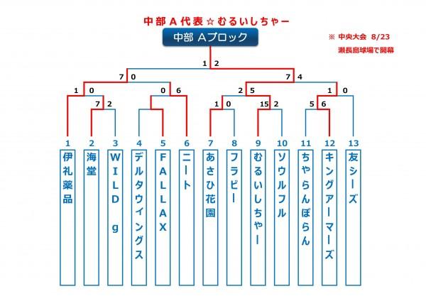 2015年ビクトリー杯沖縄地区中部Aブロックトーナメント表