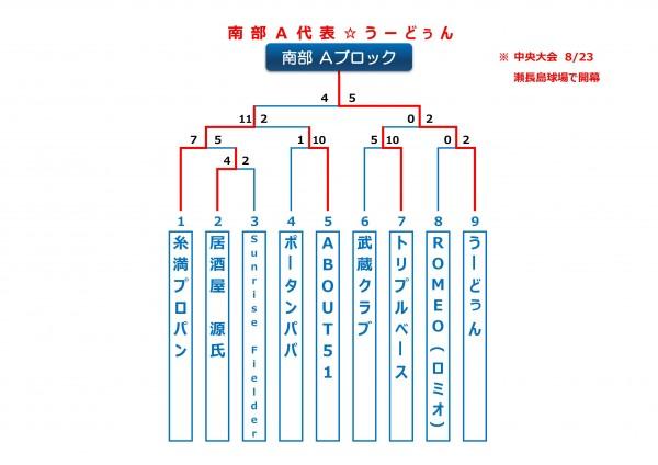 2015年ビクトリー杯沖縄地区南部Aブロックトーナメント表